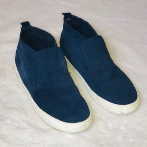 Dolce Vita Blue Suede High Top Sneakers Slides